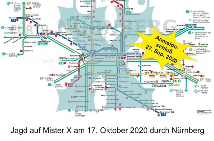 Jagd auf Mr.X am 17. Oktober 2020