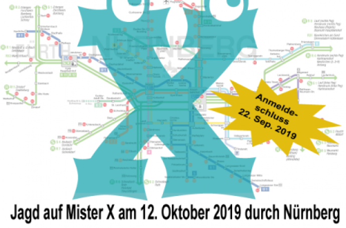 Jagd auf Mr.X am 12. Oktober 2019